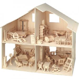casa de madera natural como Aldi