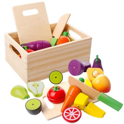Juegos de comida de madera natural
