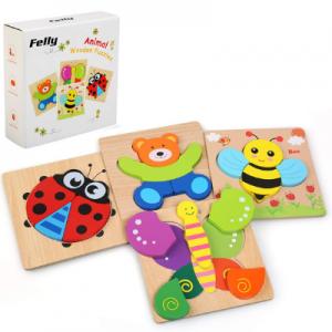 Puzzles de madera para bebés de 1 año
