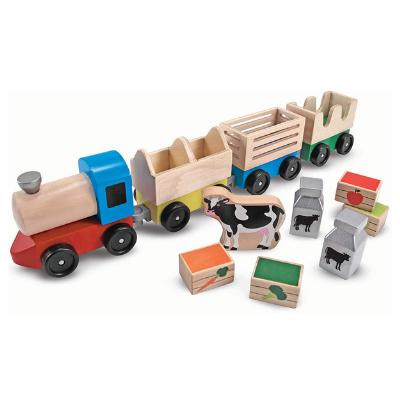 Tren de juguete de madera